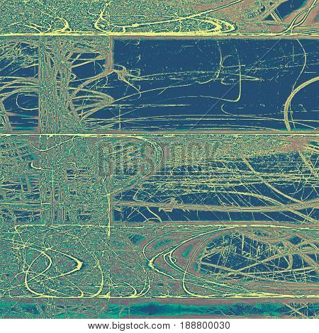 Art grunge background, vintage style textured frame. With different color patterns: blue; cyan; yellow (beige); brown; gray