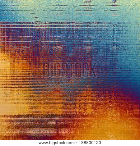 Vintage ancient background or texture with grunge decor elements and different color patterns: blue; cyan; yellow (beige); red (orange); purple (violet); pink