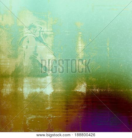 Old grunge background with delicate abstract texture and different color patterns: blue; cyan; yellow (beige); green; purple (violet); white