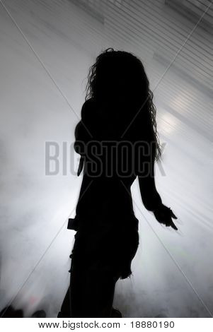 silhouette of disco dancer. good use like background for party cards and posters
