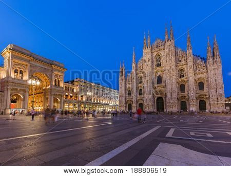 Milan Cathedral (Duomo di Milano) in Italy - architecture background