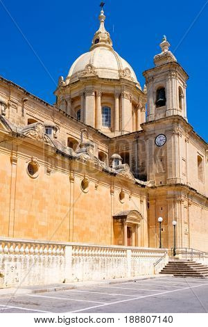 Church in   island  Gozo in Malta.