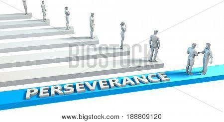 Perseverance as a Skill for A Good Employee 3D Illustration Render