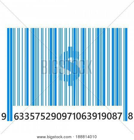 Bar code  with dollar sign