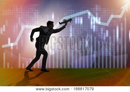 Businessman in start-up business concept