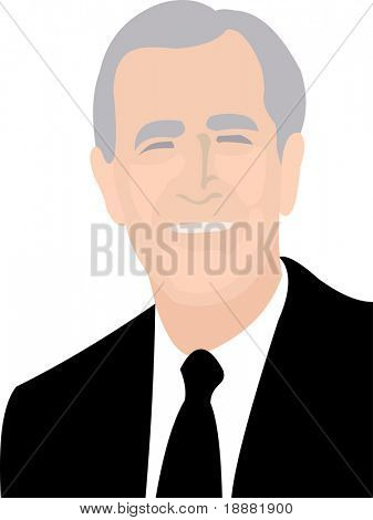 simple vector image of presidential figure isolated on white