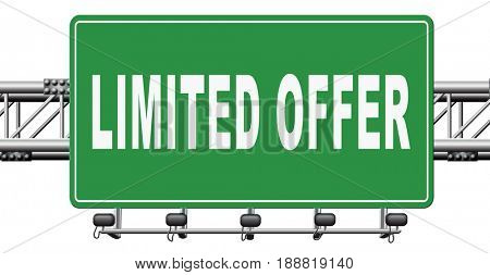 limited offer edition or stock webshop icon or web shop sign , 3D, illustration