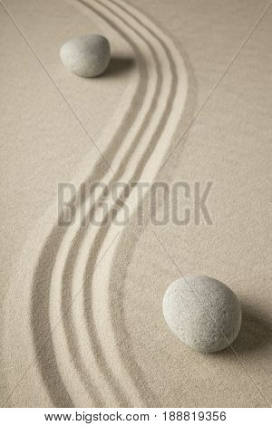 spiritual zen meditation stones in sand. Background for spa wellness buddhism and yoga.