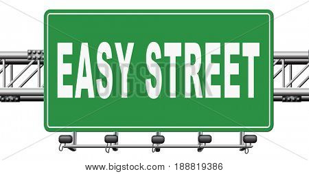 easy street, keep it simple no risk and safe solution, 3D, illustration