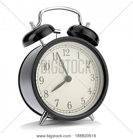 Retro Alarm Clock Isolated