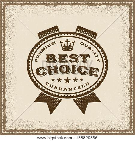 Vintage Best Choice Label