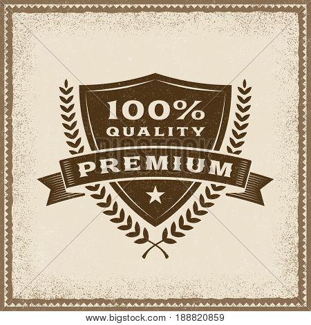 Vintage Premium 100% Quality Label