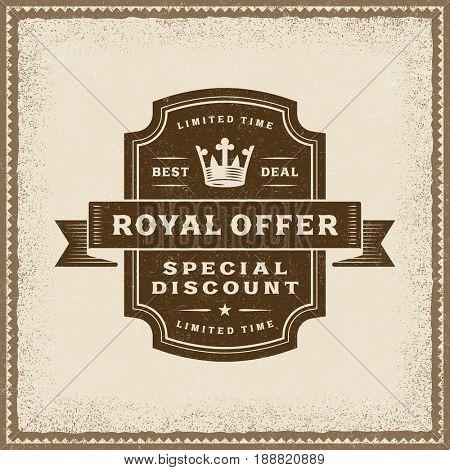 Vintage Royal Offer Label