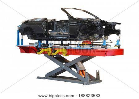 Car's body on a stocks