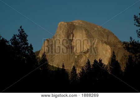 Half Dome At Sunset 1