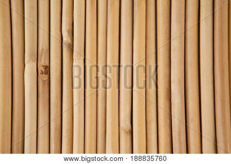 Close-up of straw sushi mat