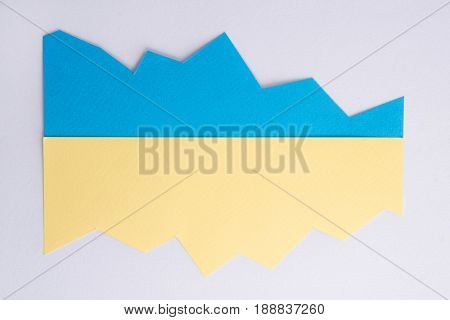 Image of yellow and blue business graphic.
