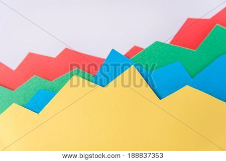 Image of business graphics isolated over grey background.