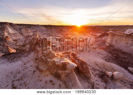 Bisti badlands, De-na-zin wilderness area,  New Mexico, USA