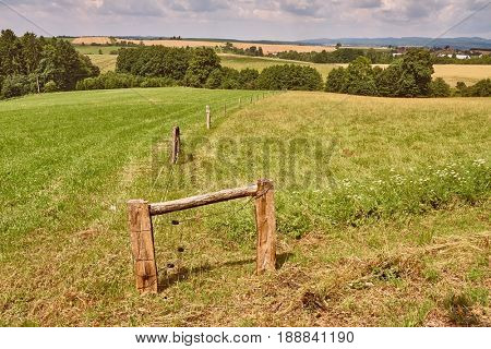 Agricultural field on a hilly lands