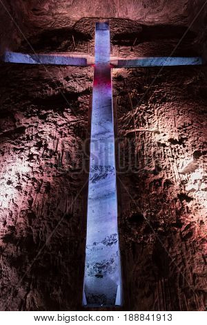 Catedral de Sal Salt Cathedral of Zipaquira Cundinamarca in Colombia South America