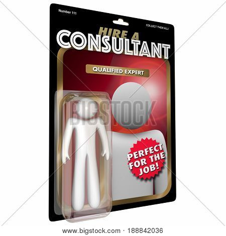 Consultant Action Figure Expert Experienced Professional 3d Illustration