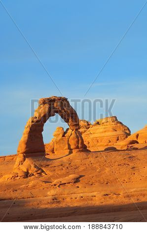 Delicate Arch in Arches National Park, Utah, United States.