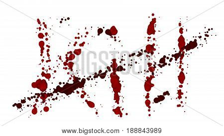 KILL bleeding isolated. Lost a lot of blood, having a hemorrhage. The blood on the white background