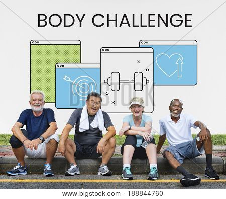 Healthy lifestyle fitness website homepage application
