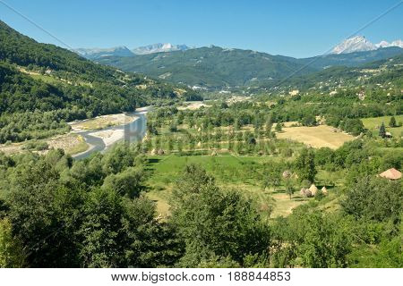 rural landscape between Andrijevica and Berane, Montenegro