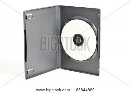 Blank DVD in plastic case