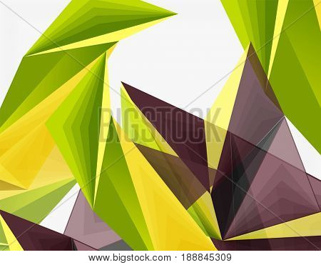 3d modern triangle low poly abstract shape, geometric