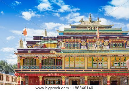 Beautiful and very colourful Monastery of Rabangla - callen Ralong Monasterry at Sikkim India