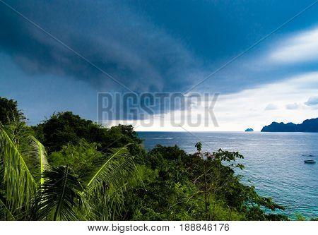 Cloudy Seascape Low Season