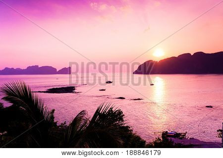 Sunset Glow Burning Skies