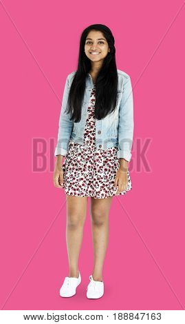 Young Indian woman standing with casual outfit