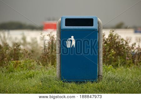 Dustbin in a public park
