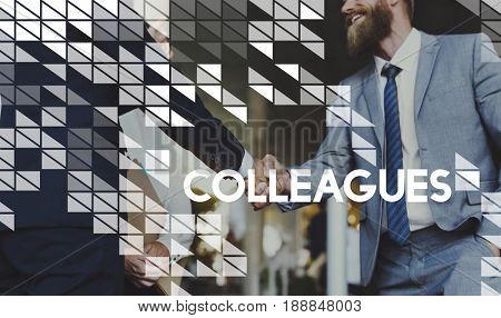 Colleagues Collaboration Coworker Togetherness Word