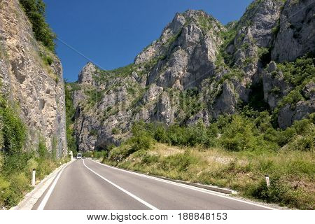 mountain road near the border with Montenegro, Serbia