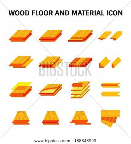 Wood floor and material vector icon set design.