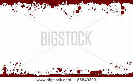 Bleeding isolated. Lost a lot of blood, having a hemorrhage. The blood on the white background