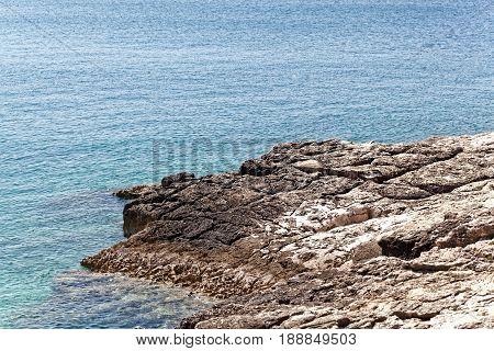 The Adriatic coast at cape Kamenjak in Istria Croatia.