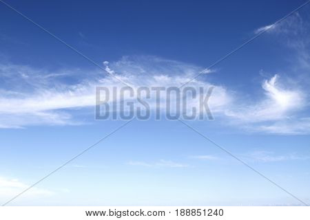 The beautiful sky in summer season for background.