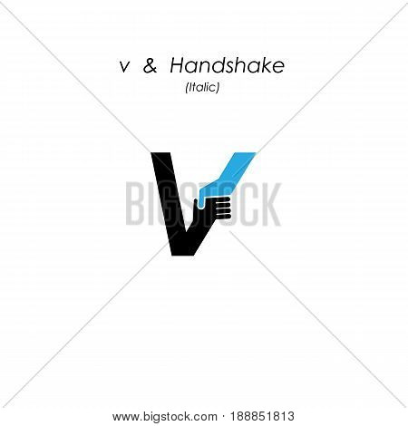 Creative v- letter icon abstract logo design vector template.Business offerpartnership icon.Corporate business and industrial logotype symbol.Vector illustration