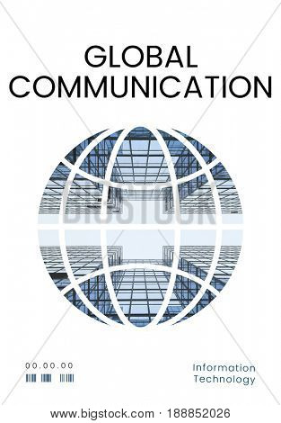 Graphic of global communication connection technology