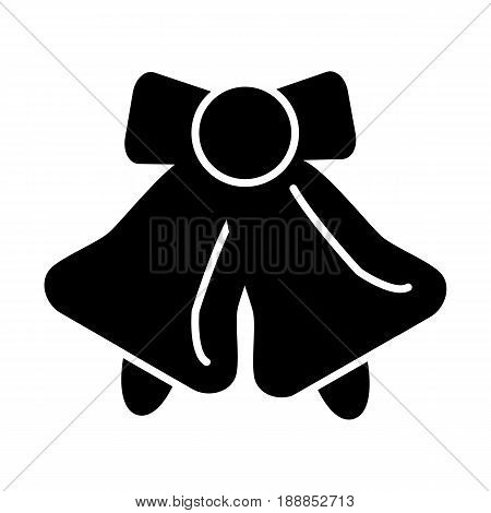 School bell vector icon. Black and white illustration of school bell. Solid linear bell icon. eps 10