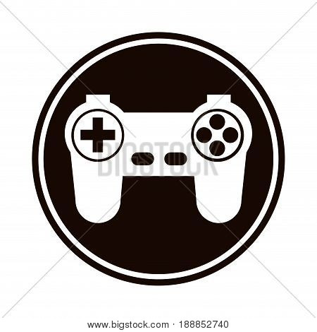 game controller or joystick console keypad icon vector illustration