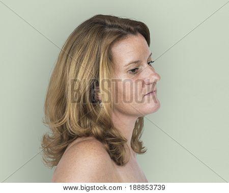 Caucasian Woman Casual Moody