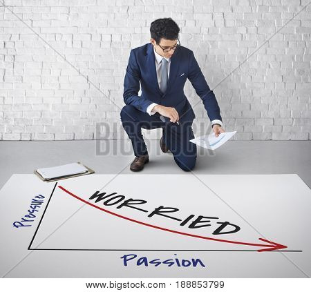 Corporate Businessman Analysis Graph