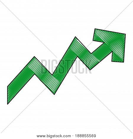 rising arrow. increase, price, investment concept vector illustration
